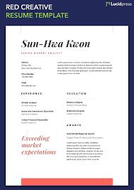 Resume Standard Resume Formats