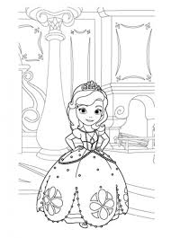 Get This Princess Sofia The First In Her Room Coloring Page For