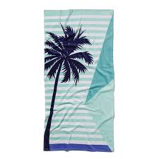 Adairs Kids Printed Beach Towel Palm Tree Home Gifts Beach