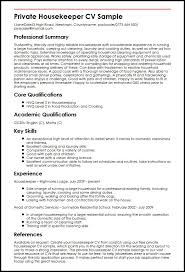 Housekeeping Resume Templates Hotel Housekeeper Resume Objective