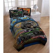 4pc Monster Jam Twin Bedding Set Grave Digger Monster Truck ... & 4pc Monster Jam Twin Bedding Set Grave Digger Monster Truck Comforter and  Sheet Set Adamdwight.com