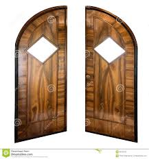 open old wooden door