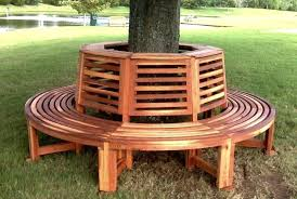 bench ideas for added outdoor seating view in gallery circular redwood tree from forever seats garden furniture n8 seats