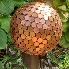 Bowling Ball Decorations Awesome Bowling Ball Garden Decorations Cool Copper Penny Pennies Garden