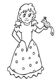 姫塗り絵のイラスト素材ベクタ Image 36861325
