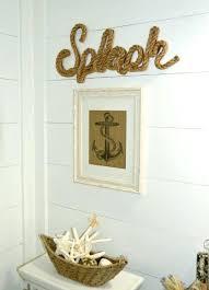 shiplap wall decor nautical beach bathroom with walls coastal decorations shiplap wall decor ideas