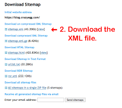 sitemap xml file