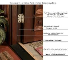 Solid Oak Exterior Door Threshold Exterior Doors And Screen Doors