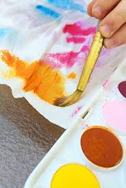 kids watercolour painting ideas paper towel painting