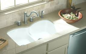 kohler white porcelain kitchen sink with drainboard lowes old for