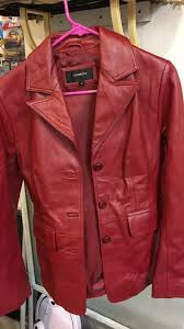 womens colebrook red leather jacket size s like new for in minneapolis mn offerup