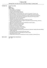 Event Planner Resume Sample Velvet Jobs