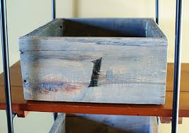 reclaimed wood storage boxes