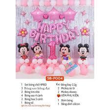 Set bóng bóng trang trí tiệc sinh nhật Mickey cho bé tuổi chuột siêu dễ  thương C01 tại Hà Nội