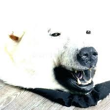 faux polar bear rug fur s