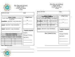 Daily Report Form Infants