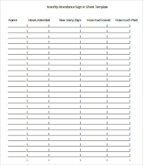 Attendance Sign In Sheet Template 16 Free Word Pdf