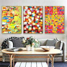 puzzle wall art irregular color block puzzle abstract canvas painting minimalist picture modern wall art print puzzle wall art