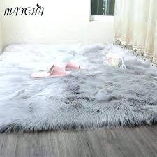 fake fur rug faux fur rug caramel white sheepskin long blanket decorative blankets bed carpet floor fake fur rug