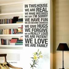 m letter design unique wall decal luxury 1 kirkland wall decor home beautiful family wall art