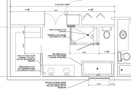 Large Master Bathroom Floor Plans Set