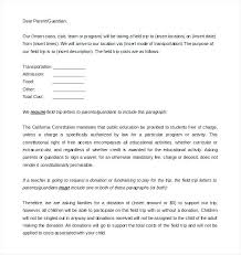 Permission Slip For Field Trips Parent Letter Template Inspiration Web Design Sample Field