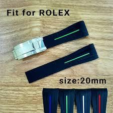 <b>2018 New</b> Luxury Watch Strap <b>20mm</b> Fit For ROLEX SUB/GMT Soft ...
