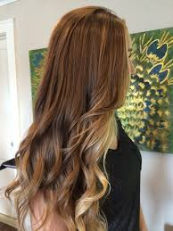 Balayage Ombre Using Her Natural Dark