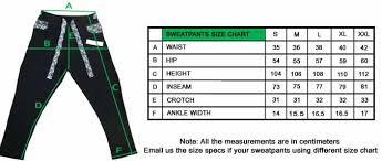 Sweatpants Size Chart Personalized Sweatpants Teetick