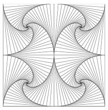 Small Picture Coloring pages on geometric shapes and patterns is a commonly