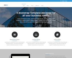 Bootstrap Website Maxibiz Bootstrap Business Website Template Templatemag