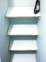 slanted shoe shelves angled wall lovely design shelf rack diy