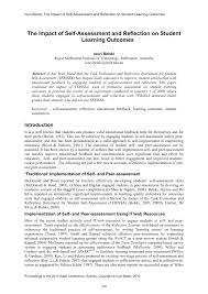 reflective self evaluation essay essay samples for self assessment and reflection