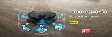 Robot hút bụi và lau nhà ECOVACS DEEBOT OZMO 950 – Phiên bản quốc tế sx  2021 – Robot hút bui thông minh Ecovacs