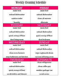 My Weekly Schedule My Weekly Cleaning Schedule Cleaning Pinterest Limpieza