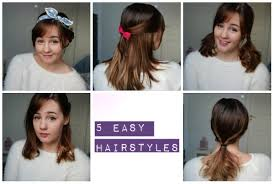 Hair Style For Medium Length 5 easy and cute hairstyles medium length hair youtube 1124 by wearticles.com