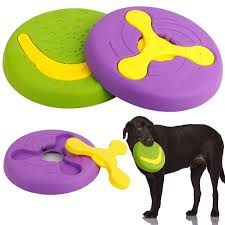 2019 best ing 2 in 1 durable dog toy interactive flying discs trainning for large dogs molar tooth bite resistant outdoor from home5 9 85 dhgate com