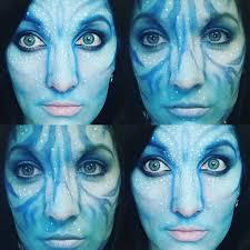 male and female na vi avatar makeup