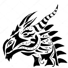 дракон татуировки на белом фоне изолированных векторное