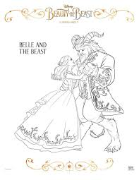 Disney Belle And The Beast Coloring Page Printable Coloring Pages