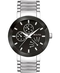 bulova men s stainless steel strap watch 40mm 96c105 watches bulova men s stainless steel strap watch 40mm 96c105