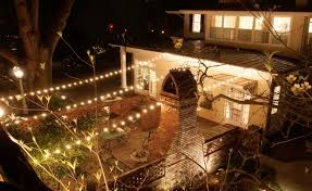commercial outdoor string lights with backyard ideas