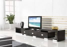 Grey Wall Added By Lcd Tv On Brown Wooden Tv Cabinet And Rectangle Lcd Tv Cabinet Living Room