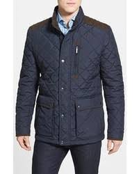 Men's Navy Quilted Field Jackets by Burberry | Men's Fashion & Navy Quilted Field Jacket Adamdwight.com