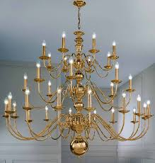 franklite delft large polished brass 32 light flemish chandelier