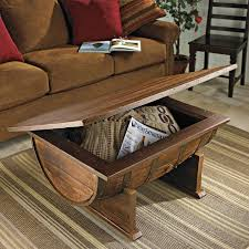 handmade vintage oak whiskey barrel coffee table drool d