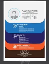 blue modern resume template modern resume template free vector in adobe illustrator ai ai