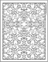 This stylish flower graphic can be incorporated into a colorful wall hanging, garden flag or lap throw. Pattern Coloring Pages Customize Pdf Printables