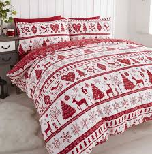 noel red quilt cover sets and festive duvet sets