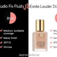 parable mac studio fix fluid vs estée lauder double wear